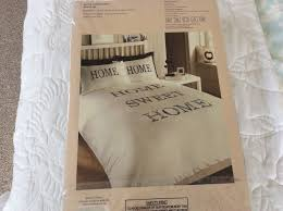 home sweet home double duvet and pillow cases embroidered to the highest standed 10