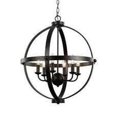 6 light rustic axel rubbed oil bronze chandelier