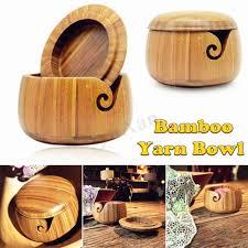 wood wooden yarn wool storage bowl handmade sheesham knitting tool crochet cover
