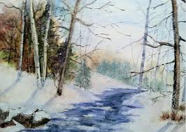 A Lovely Winter's Day Painting by Polly Barrett