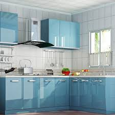 Contact Paper On Kitchen Cabinets Glossy Blue Self Adhesive Pvc Contact Paper Kitchen Cupboard Shelf Liner Peel Stick 61 X 500jpg