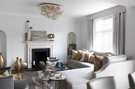 Neutral & Gold Luxurious Modern Living Room Design Ideas