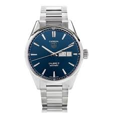 tag heuer carrera watches the watch gallery® tag heuer carrera automatic stainless steel blue mens watch war201e ba0723