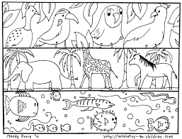 Creation Coloring Pages: God Made The Animals, Fish, Birds ...