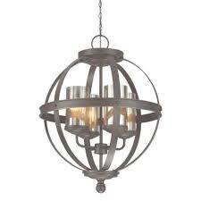 sfera 6 light autumn bronze chandelier with mercury glass