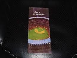 Vintage 1967 St Louis Cardinals Schedule Ticket Brochure
