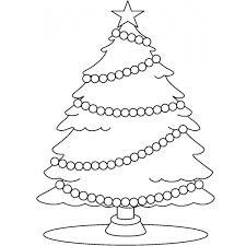 Disegno Di Albero Con Stella Di Natale Da Colorare Per Bambini