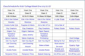College Weekly Schedule Maker Class Schedule Maker For Students 1567