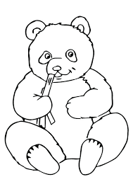 Cartoon Panda Coloring Pages Print Coloring Image Cartoon Panda Bear