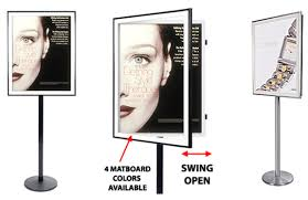 A Frame Display Stands SSC Swing Open Poster Frames wood metal and acrylic poster 21