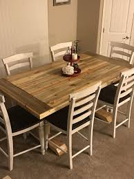 nebraska furniture mart dining room tables my hubby built the table found the chairs at nebraska