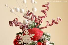 How To Decorate A Candy Cane Christmas Tree pepperminttreetopperjpg 42