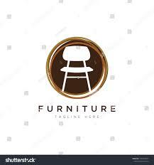 Home Furnishing Logo Design Furniture Logo Designsymbol Icon Chairs Sofas Stock Vector