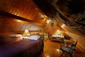 Log Cabin Bedroom Cabin Bedroom Log Cabin Bedroom Natural Wood And Rocks Fireplace