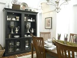 rustic dining room hutch. Dining Room Hutch Decor Black Is The Showstopper In This White Eclectic Kitchen Design Rustic