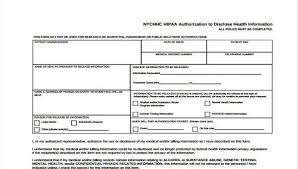 Hipaa Authorization Form Stunning 48 HIPAA Release Form Samples Free Sample Example Format Download