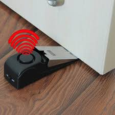 wireless vibration triggered garage door alarm sensor three sensitivity home wedge shaped stopper alert security system