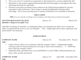 Amazing Resume Header Titles Model Documentation Template