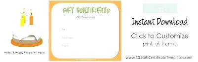 Spa Certificate Template Customize Gift Templates Online