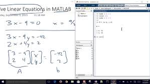 mechanical electrical um size solving linear system of equations with matlab solve build your own