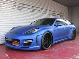 Office K Wraps Fab Design Panamera In Matte Blue Porsche Panamera Porsche Design