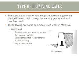 Small Picture Gravity Wall Design 4 Optimum Design Of Semi Gravity Retaining