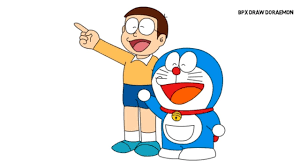 How to draw nobita | doraemon fan art. Doraemon And Nobita Drawing And Coloring For Kids Youtube