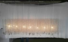 floating rectangular crystal chandelier