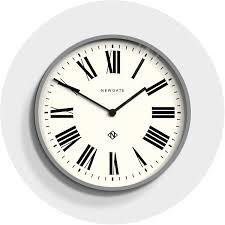 modern classic grey wall clock roman newgate italian 148pgy homeware