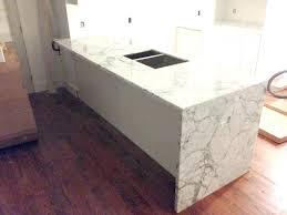 waterfall counter laminate edge making countertops how to make look like granite