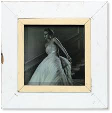 white vintage picture frame a4 square