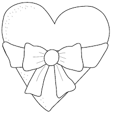 printable heart coloring sheet for kids heart coloring pages kids printable