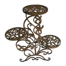... Fabulous 3 Tier Plant Stands For Your Outdoor And Indoor Garden :  Exciting Brown Iron 3 ...