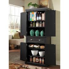 black storage cabinet. Image Of: Distressed Black Kitchen Pantry Storage Cabinet