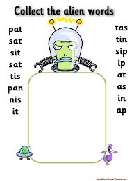 Free, printable phonics worksheets to develop strong language skills. Phase 2 Collect The Alien Words Satpin To Make It Easier I Would Tell Group How Many Words They Are Collecti Phonics Phonics Activities Phonics Interventions