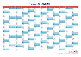 Annual Calendar 2015 Yearly Calendar Year 2015 Yearly Horizontal Planning