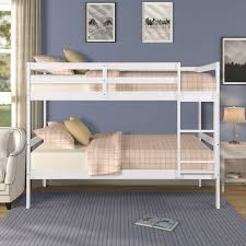 Bunk Beds Designs Free Twin Bunk Bed Meritline Twin Over Twin Bunk Beds With Ladder And Safety Rail White