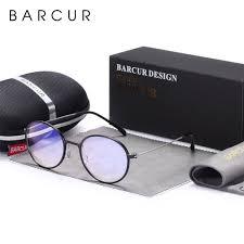 Blue Light Eyeglasses Barcur Round Frame Anti Blue Light Eyeglasses
