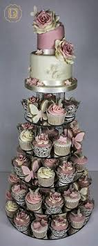 Wedding Cake With Flowers And Butterflies 26195 Dolci Delight Dubai
