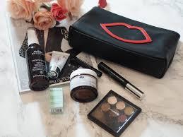 lulu guinness x lookfantastic makeup bag