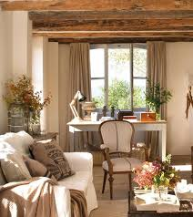 french country office. These Rustic Wooden Beams Add Interest To The Home Office French Country E