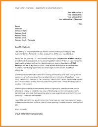 Examples Of Cover Letters Examples Of Cover Letters Cover Letter Job