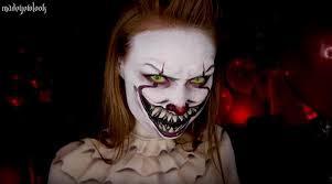 clown makeup tutorial you madeyewlook madeyewlook schminkt sich wie pennywise aus es it pennywise makeup tutorial