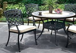 black metal outdoor dining table set chairs flamingo furniture antique round patio decorating good looking cm