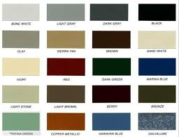 Metal Siding Color Chart Color Chart