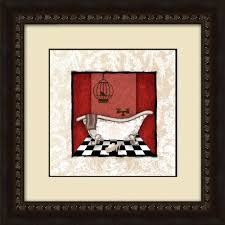 damask bath b framed wall art 1 17007b the home depot on brown framed wall art with ptm images 17 1 2 in x 17 1 2 in damask bath b framed wall art 1