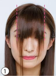 顔型別前髪セルフカットで小顔 切り方スタイリング術も伝授
