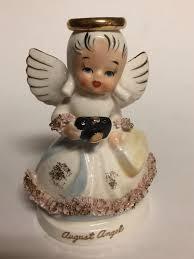 August Birthday Angel Figurine Napco Japan | Angel figurines, Birthday  angel, August birthday