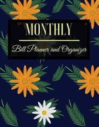 Monthly Bill Organizer Book Magrudy Com Monthly Bill Planner And Organizer Floral Design
