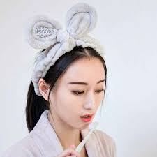 <b>Women</b> Girls Wide Ruched Plush Headband <b>Cute Rabbit</b> Ear ...